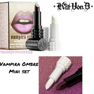 😻Kat Von D Vampira Ombre mini lip kit new box